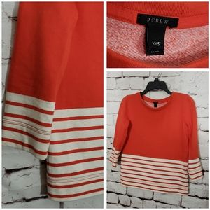 J. Crew Orange Striped Sweatshirt